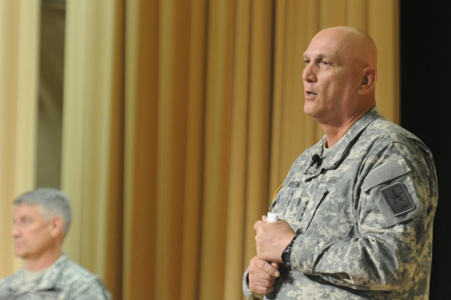 Chief of Staff of the Army Gen. Ray Odierno speaks during a town hall meeting at Joint Base Lewis-McChord, Wash., June 26, 2013.