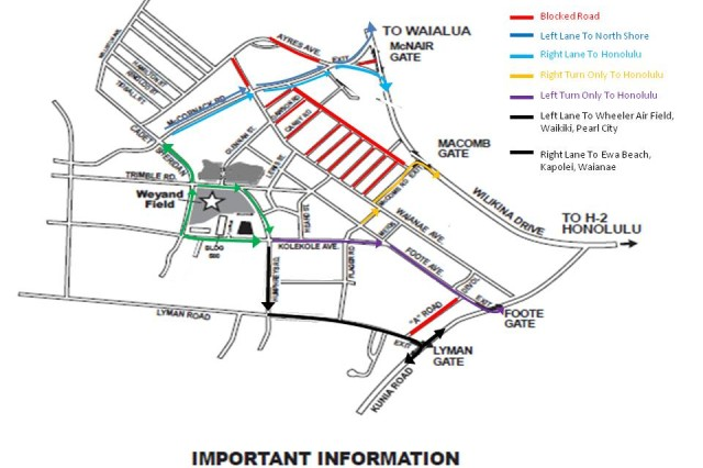 Traffic routes will be strictly enforced both on and off the installation.