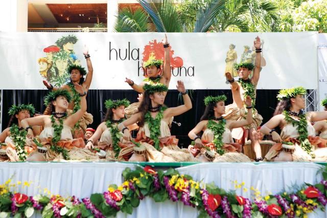 """Hula hālau perform for the title """"Hula Ho'olauna Aloha"""" at last year's festival. The celebration returns to Kahala Mall, July 6, and The Royal Hawaiian's Coconut Grove, July 7."""