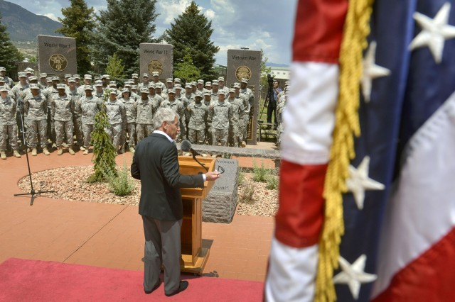 Hagel addresses Fort Carson Soldiers