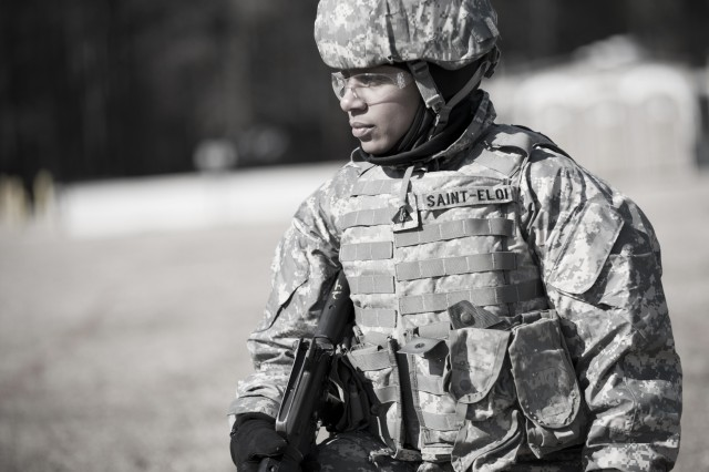 A Department of the Army civilian logistics intern attends the tactics  section of a basic officer leader course at Fort Lee, Va.