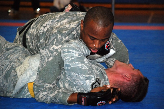 24 compete in combatives qualifier tournament at Camp Zama