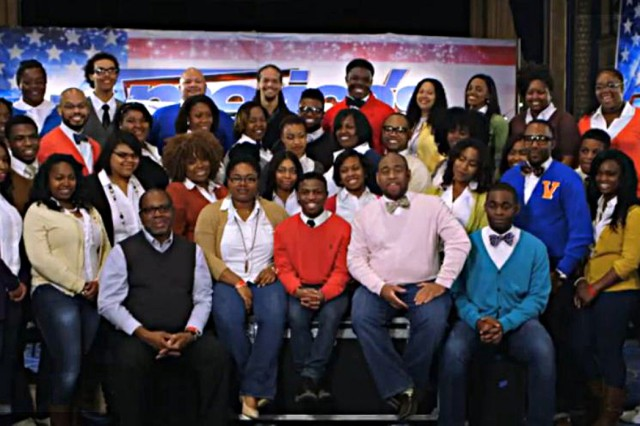 The Virginia State University Gospel Chorale auditioned for the judges of America's Got Talent during a June 25 episode. The choir -- from Petersburg -- passed the audition and will go to the next elimination round in Las Vegas. Michael Rainey, a Fort Lee employee who works as an operations research analyst with the Training and Doctrine Command Analysis Center, was front and center with the choir during the national broadcast. Rainey serves as the group's business manager and is an alumnus of the college and choir from 1999-2002.