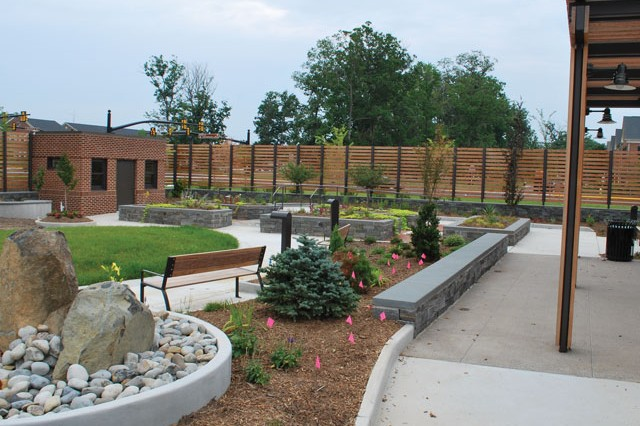 The Healing Gardens at the USOWarrior and Family Center will provide a calm place to relax and reflect.