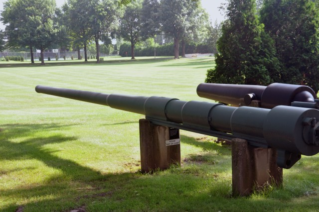 Guns stand guard over the original 12 acres of land that became the Watervliet Arsenal, N.Y.