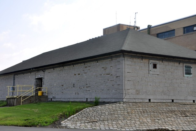 This former magazine once stored tons of black powder for ammunition.  Built in 1828, it is believed to be the oldest structure on Watervliet Arsenal, N.Y.