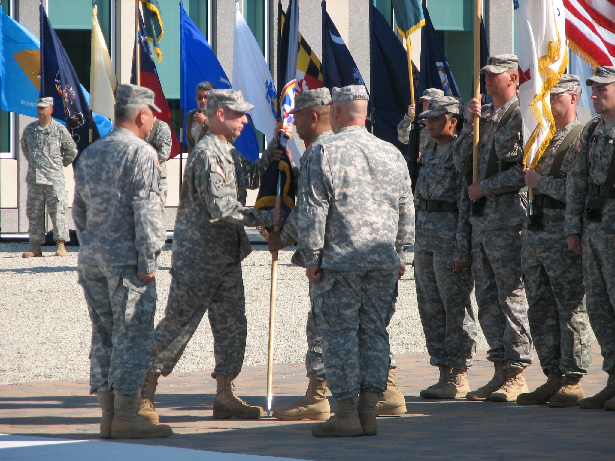atec welcomes new commanding general dellarocco to retire original first sgt paul