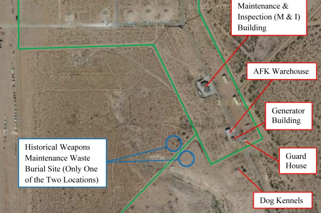 "Low levels of alpha and beta radiological particles were detected in a weapons storage bunker, July 12, 2013, near Biggs Army Airfield at Fort Bliss, Texas, in an area called the ""Snake Pit,"" said an installation spokesman."
