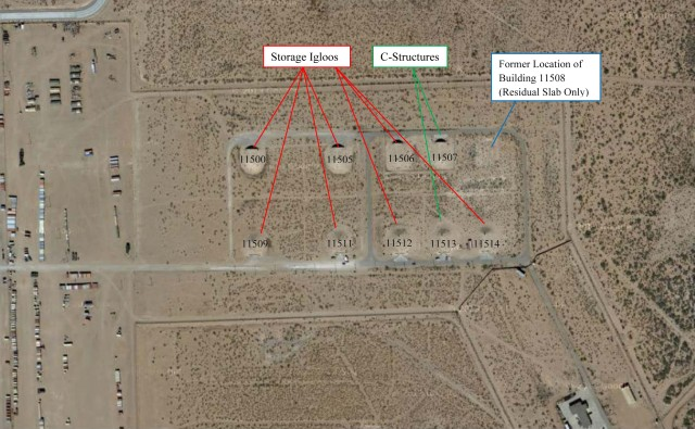 Former weapons storage area at Biggs Army Airfield, Texas 2 of 2
