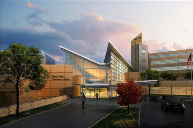 The new hospital will be a state-of the-art medical facility, replacing one of the Army's oldest active hospitals by the end of 2014. The new facility is 745,00 square feet.