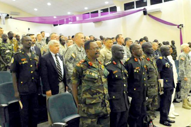 Military leaders from throughout Western Africa and the U.S. military meet at the Kofi Annan International Peacekeeping Training Centre in Accra, Ghana for the opening ceremony of Western Accord 13. Western Accord 13 is a mutually beneficial exercise hosted by U.S. Army Africa that brings together the Economic Community of West African States and the U.S. Army to have increased capability to support regional peacekeeping operations.