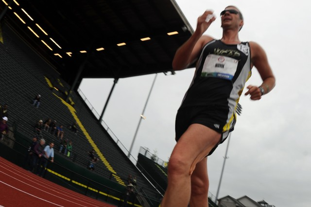 Army Reserve Staff Sgt. John Nunn, a two-time Olympic race walker with the U.S. Army World Class Athlete Program, seen here competing at the 2012 U.S. Olympic Track and Field Team Trials in Eugene, Ore., recently finished second in the 20-kilometer race walk at the 2013 USA Outdoor Track and Field Championships as a tuneup for the 2013 IAAF World Championships, scheduled for Aug. 10-18, 2013, in Moscow, Russia.