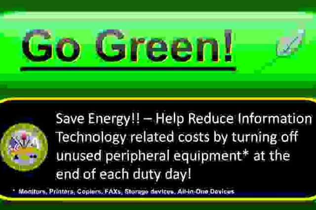 Army Go Green Graphic