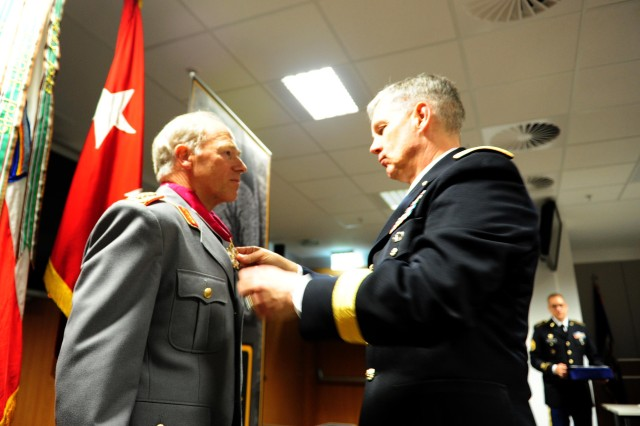 US Army Europe awards retired German general US Legion of Merit medal for 41 years of service