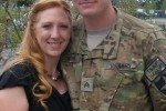 Sgt. Ty Carter pauses for a final photo with his wife Shannon before deploying from Joint Base Lewis-McChord, Wash., May 2012, with A Troop, 8-1 Cavalry, 2nd Stryker Brigade Combat Team, 2nd Infantry Division.