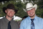Sgt. Ty Carter and his buddy William Hahn attend a wedding near Fort Carson, Colo.