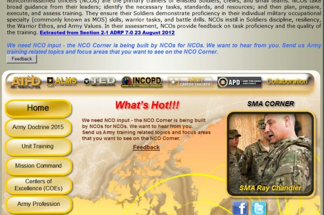 NCO Corner screen shot