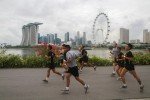 Singapore fun run brings two armies together