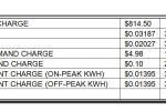 May 2013 Installation Electric Bill