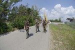 KFOR soldiers face summer heat during DANCON march