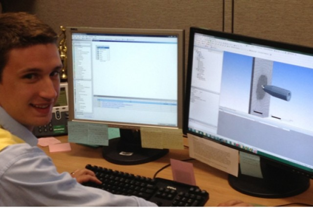 Joel Metz, a mechanical engineer with the U.S. Army Armaments Research, Development and Engineering Center at Picatinny Arsenal, uses the ANSYS-ADAPT extension.