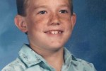 Ty Carter sits for his first grade portrait at Gehringer Elementary School in Oakley, Calif., 1986-1987.