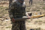 ANA soldiers provide safety through delivery of artillery fires