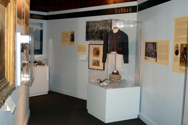 "A section of the new Civil War exhibit ""Empire for Union""  at the New York State Military Museum is seen, which was officially opened July 27. The exhibit tells the story of New York and New Yorkers in the Civil War."