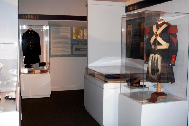 A section of the new Civil War exhibit at the New York State Military Museum is seen, which was officially opened July 27. The Scottish style uniform was worn by a member of the 78th New York Volunteer Infantry during the Civil War.