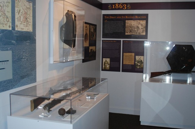 "Pictured is a section of the ""Empire for Union,"" the new Civil War display at the New York State Military Museum, which opened July 27."