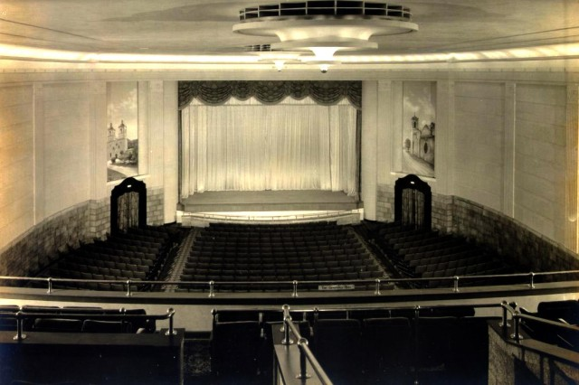 This is the interior of Fort Sam Houston Base Theater in 1935.