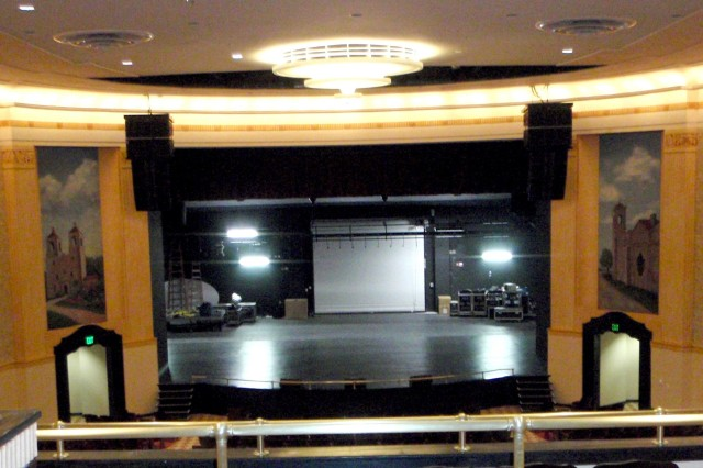 The interior was photographed in Joint Base San Antonio - Fort Sam Houston Base Theater 2012.