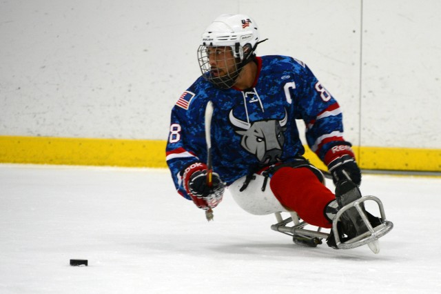 U.S. Army veteran Rico Roman, a defenseman for the San Antonio Rampage Sled Hockey Team, was named to the U.S. Paralympic Sled Hockey Team that will compete in the 2014 Paralympic Winter Games in Sochi, Russia. Roman rehabilitated at Brooke Army Medical Center in San Antonio after an improvised explosive device claimed his left leg in Iraq.