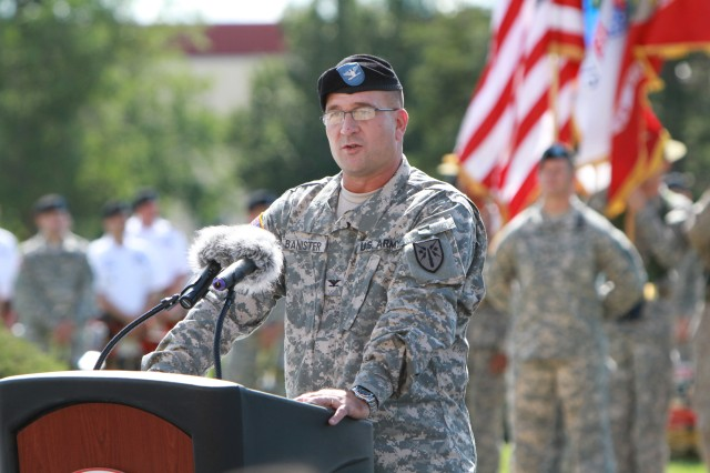 Col. Tracy Banister, Fires Center of Excellence and Fort Sill chief of staff, said this is his family's third tour at Fort Sill and he looks forward to renewing old friendships.