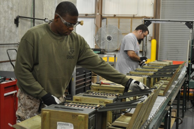 Marine Reservists Hone Their Skills with Crane Army
