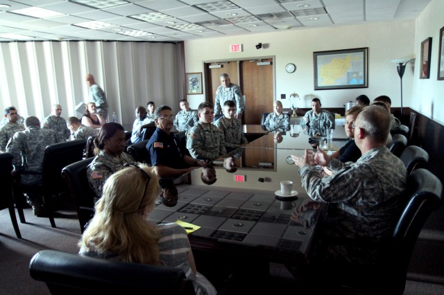As part of the 'Health of the Force' trip, Gen. John Campbell, vice chief of staff of the Army, visited Fort Drum, July 31-Aug. 1, 2013, to review Fort Drum's Ready and Resilient Campaign, known as R2C.