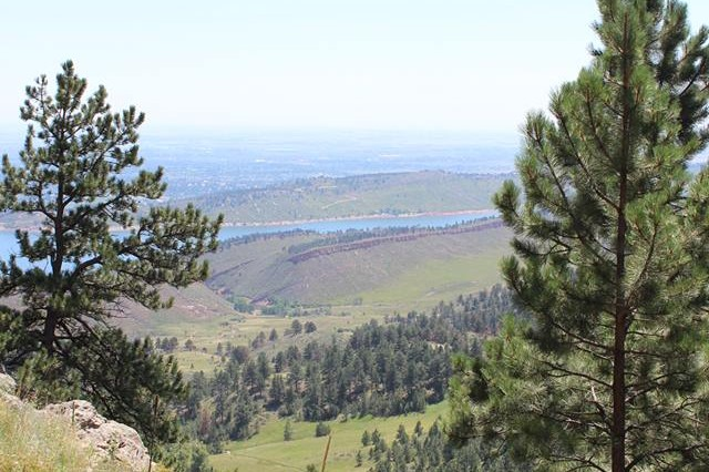 View from the trail at Lory State Park where a hiker had to be carried out on a litter after she fell down and broke her wrist July 31 in near Fort Collins, Colo.
