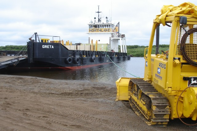 "The Denali Commission and the U.S. Army Corps of Engineers "" Alaska District partnered in 2007 to conduct a ""Barge Landing Development Assessment."" When finished in 2009, the findings determined the lack of mooring points were a deficiency in the rural cities. In order to off-load, tactics included beaching ships or tying off to heavy construction equipment sitting along the shore."