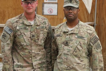U.S. Army 1st Sgt. David Joshua, the first sergeant for Company A, 703rd Brigade Support Battalion, 4th Infantry Brigade Combat Team, 3rd Infantry Division, and a native of Sacramento, Calif., is part of a small percentage of Muslims in the U.S. Army.