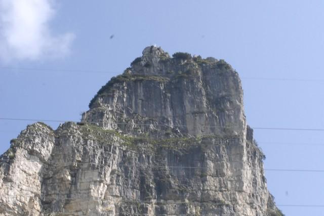 The Madonna della Sisilla sits atop the Sisilla mountain in the Italian Dolomites.