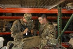 2/1 CAV Soldiers inventory equipment