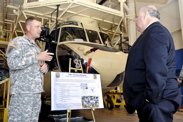 Westphal discusses the fiscal challenges facing the Army during TRADOC, Fort Eustis visit