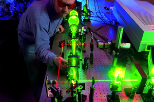 Andy Mott of the U.S. Army Research Laboratory Sensors and Electron Devices Directorate is a team lead with the Laser Protection Team, a group that is bringing a new level of protection from lasers.
