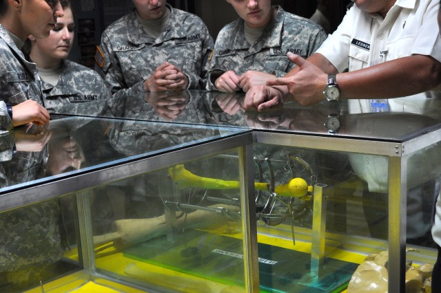 Cadets and cadre toured the orthopedic museum in Armed Forces of the Philippines Military Medical Center