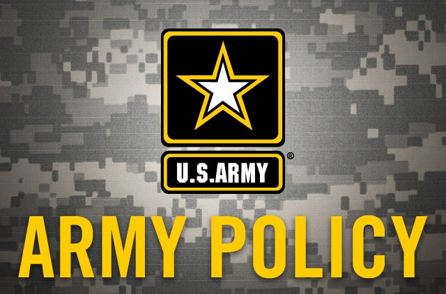 U.S. Army Policy graphic