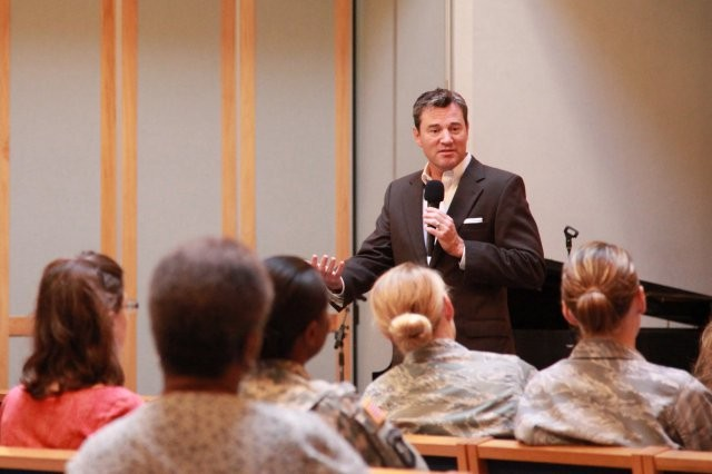 Hal Runkel, licensed marriage and family therapist and founder of The ScreamFree Institute, leads a session with Army parents at Fort Sam Houston, Texas, in 2012. Garrison Army Community Service Centers offers a variety of programs and services to provide education and awareness on effective parenting strategies to reduce family anxiety and stress.
