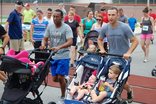 About 200 runners participated in the Summer 5K/Kid's One-Miler Fun Run, Aug. 10, kicking off at 8 a.m. at Zoeckler Fitness Center. Besides the more than 100 individual runners, seven units participated, along with 18 children. In the 5K, the overall top finisher was Capt. Bradley Glosser, of Headquarters and Headquarters Detachment, 94th Military Police Battalion, with a time of 18 minutes, five seconds. He was competing in the Men's Master (40-49) category. The overall fastest woman was Sgt. Miae Phipps, of Company A, 719th Military Intelligence Battalion, with a time of 23:14.