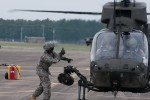 Devil brigade paratroopers fuel aircraft in joint training exercise