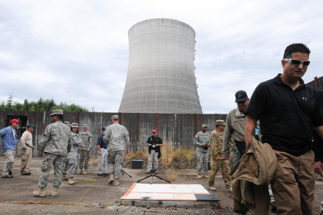 Military and Civilian bomb technicians gathered at an abandoned nuclear plant in Satsop, Wash., for the seventh annual Raven's Challenge, Aug. 14. The three-day event allowed specialist in the field to showcase new equipment, train together and trade techniques in bomb disposal and reaction to bomb threats.