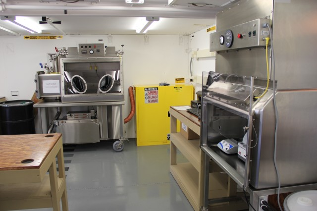 An onsite laboratory designed within a 20-foot expandable structure allows for standard transportation. The laboratory includes an environmental control unit, sample handling and storage capability, analytical systems suite and data management.
